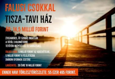 Falusi csok-kal jó esélyek a Tisza-tónál